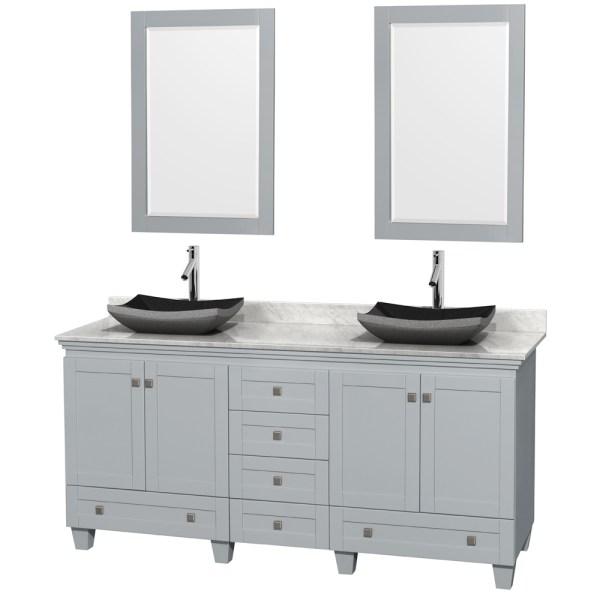 """gray double sink bathroom vanity Acclaim 72"""" Double Bathroom Vanity for Vessel Sinks by"""