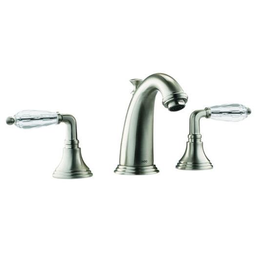 jado classic widespread lavatory faucet crystal lever handles