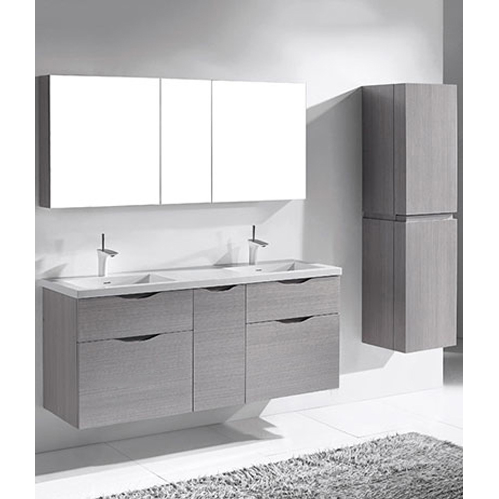 Madeli Bolano 60 Double Bathroom Vanity For Integrated