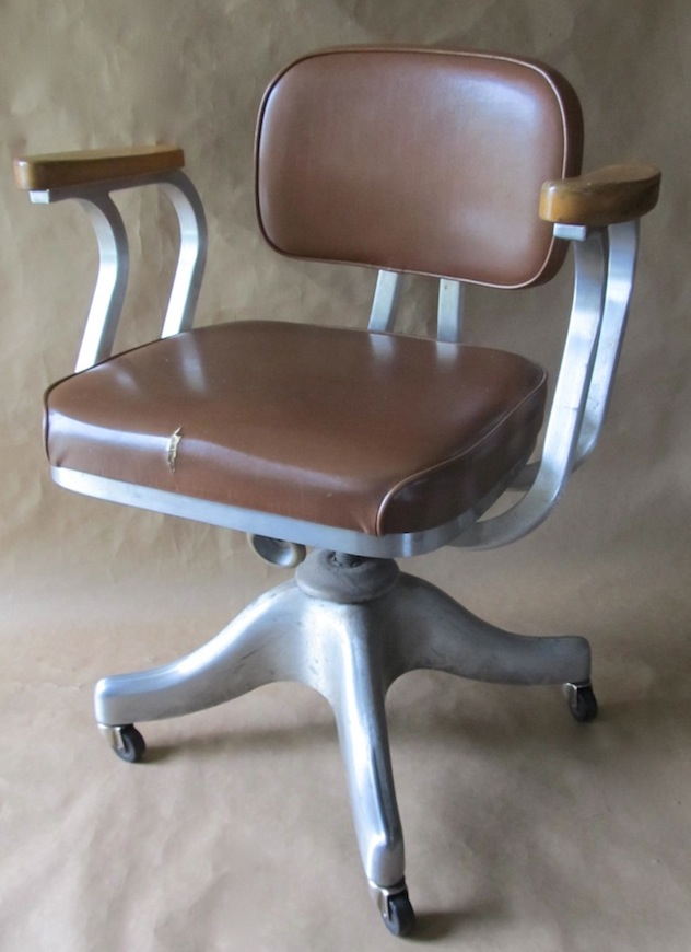vintage office chairs desk chair or exercise ball shaw walker modern restoration this dates to the 50s and was made by vinyl upholstery maple arm rests had seen better days