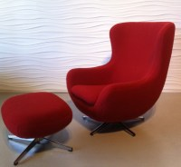 Restyled Overman egg chair and ottoman