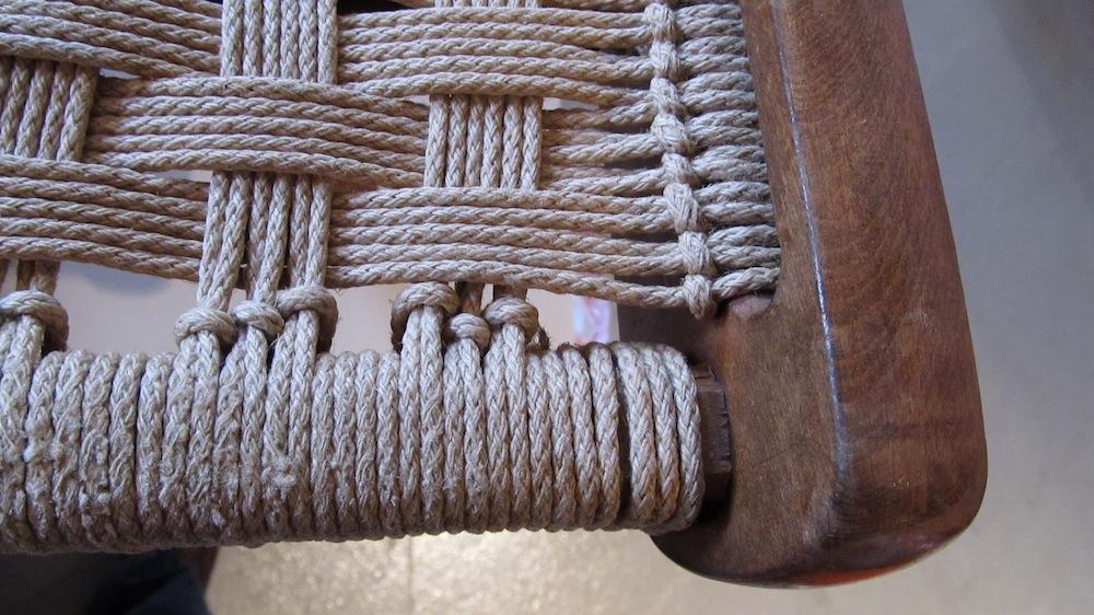 yugoslavian folding chair spa recliner wegner-style rope chairs | modern restoration