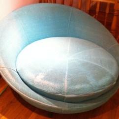 Big Round Chair Ricon Wheel Lift Lounge Modern Restoration