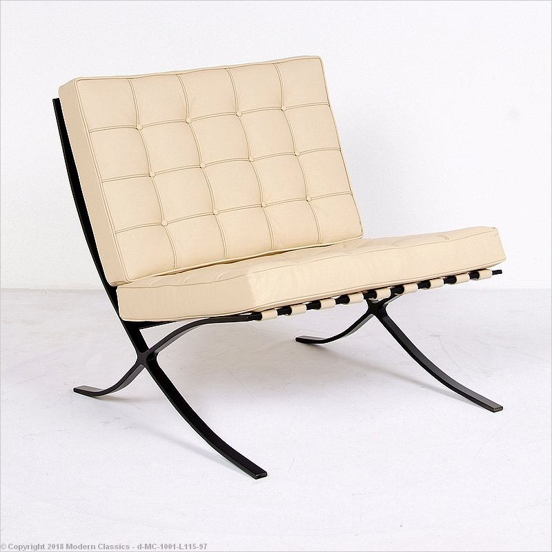 barcelona chair leather ikea drafting review and comparison guide modernclassics com replica black frame