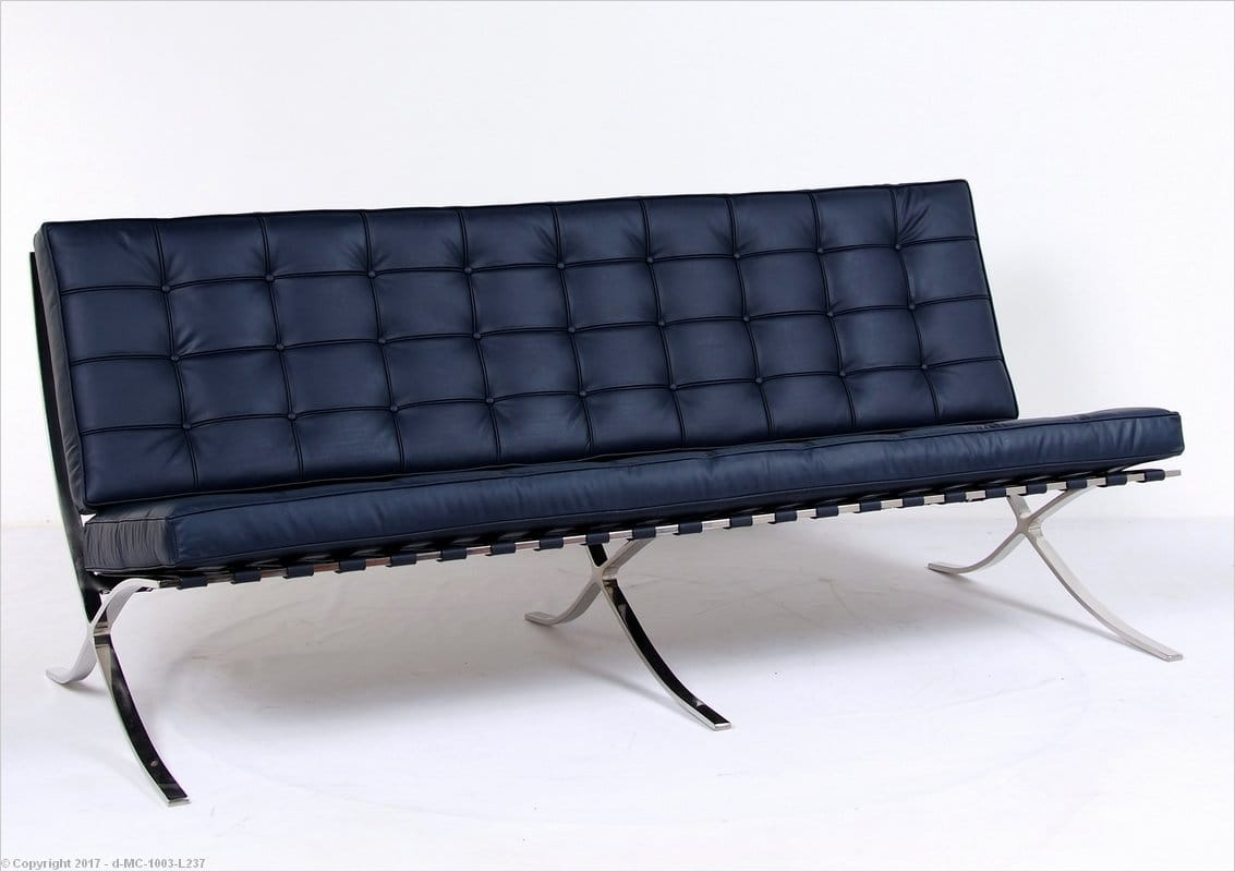 barcelona chair style couch office chairs for bad backs reviews mies sofa lc3 arm pull up a pinterest armchairs