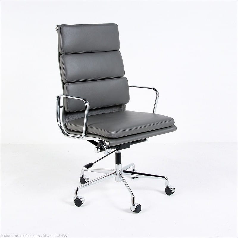 brenton studio task chair egg hanging pettis office in grey italian leather. shop star one worksmart leather ...