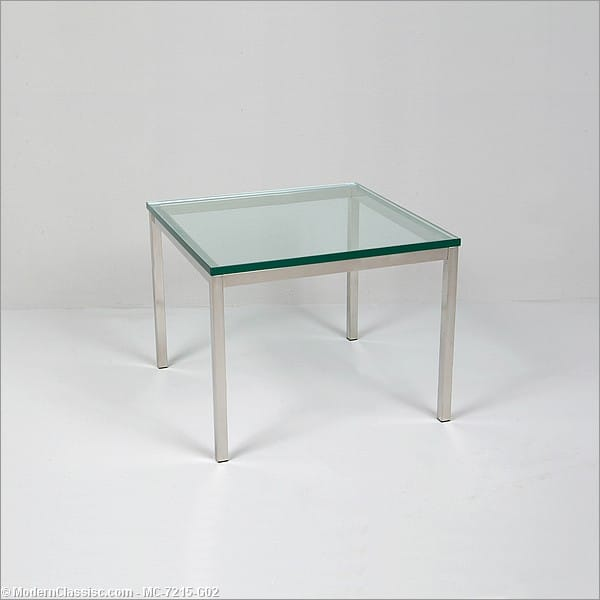 florence knoll style small square side table