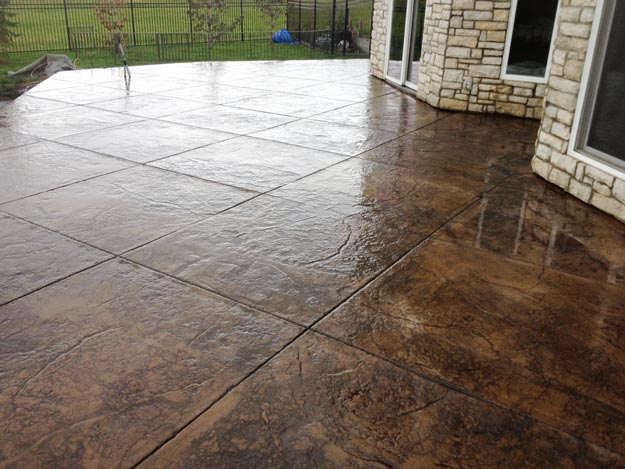 modern concrete omaha  stamped concrete