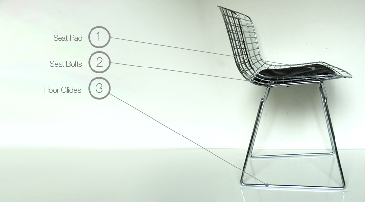 bertoia wire chair original ikea covers australia for knoll furniture parts spares collection