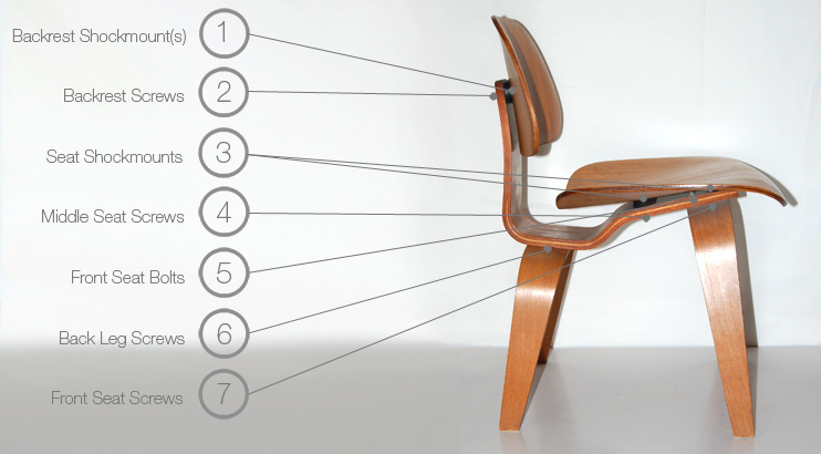 herman miller eames chair repair chairs for people with back pain molded plywood dining and lounge dcw lcw parts