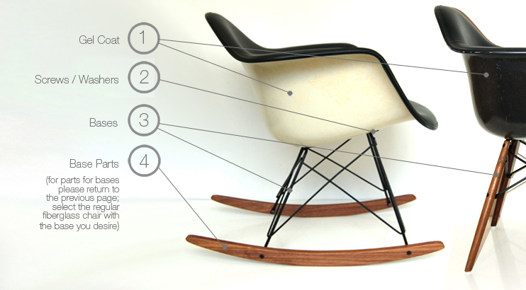 herman miller eames chair repair pier one leather upholstered fiberglass parts