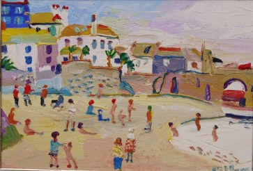 Fred Yates, On the Beach at St Ives