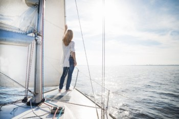 Woman on a Sailboat