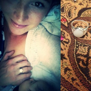 Margo Bea breastmilk ring, New Beginnings design