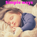 Simple ways to help your child sleep better