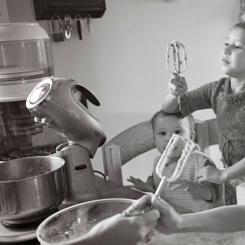 what it's like to bake with kids