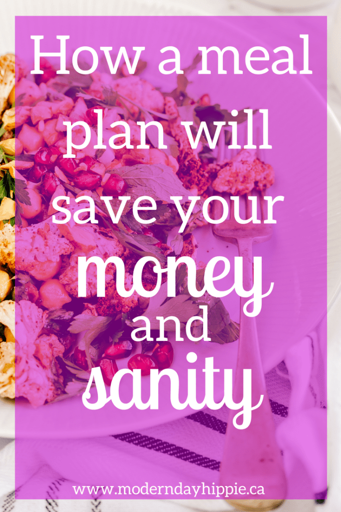 how a meal plan will save your money and sanity