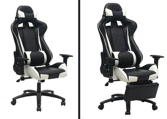 desk chair on wheels bedroom placement gaming racing office pu leather high quality cheap game / computer ...