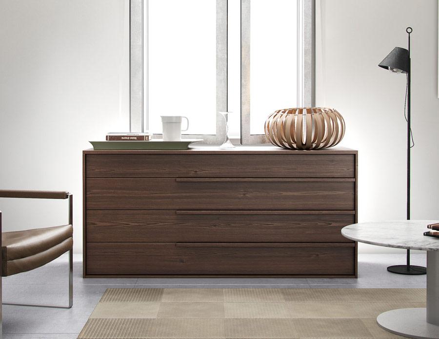 Modloft Jane Dresser  Modern Walnut Dresser