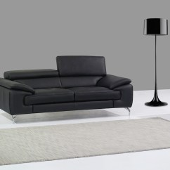 Modern White Italian Leather Sectional Sofa City Commercial Maria Black   Digs Furniture