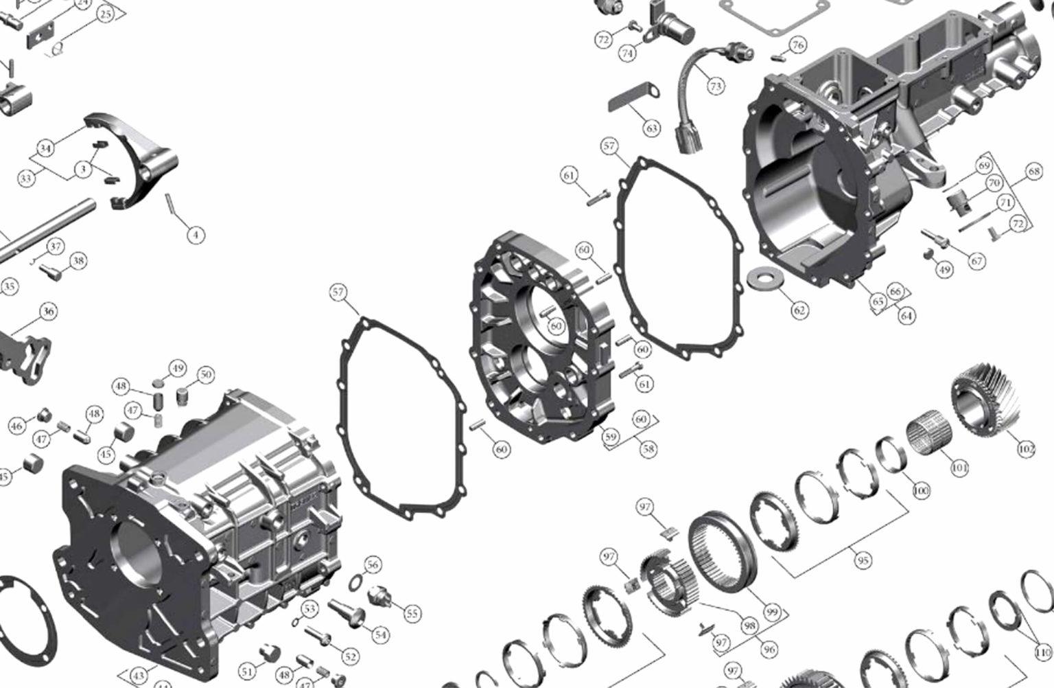 NEW Ford Tremec TKX 3.27 1st-gear with .72 od/ 10-spline