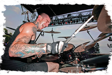 drummer Travis Smith at the kit