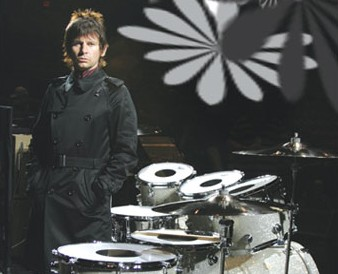 drummer Zak Starkey with his kit