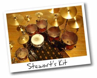 drummer Stewart Copeland's setup