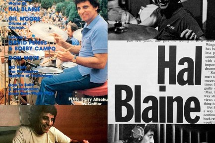 Wrecking Crew member Hal Blaine, seen here on the April 1981 issue of Modern Drummer magazine.