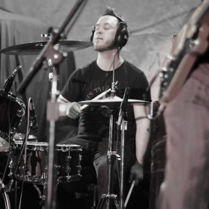 Drummer Doug Alley of Mile Maker Zero