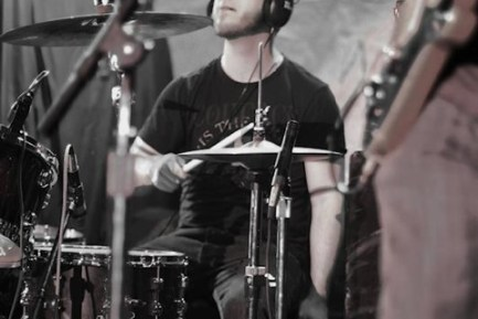 Drummer Doug Alley of Mile Maker Zero