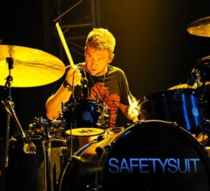 Drummer Tate Cunningham of SafetySuit