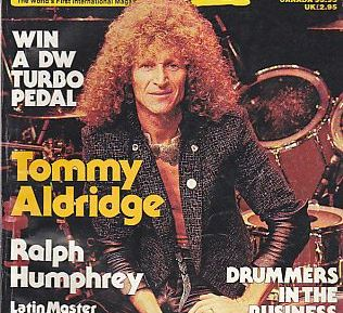 Tommy Aldridge June 1988 Modern Drummer