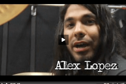 Alex Lopez of Suicide Silence Video