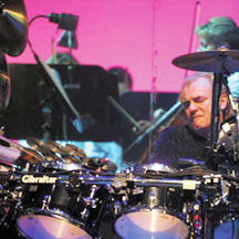 Alan White of Yes in Modern Drummer Magazine