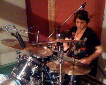 Drummer Temim Fruchter of the Shondes Blog