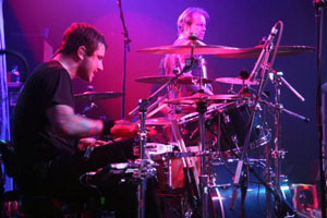 drummer Rich Beddoe of Finger Eleven