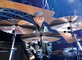Drummer Phil Rudd of AC/DC