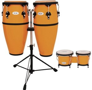 Toca Synergy Fiberglass Conga Set (yellow)