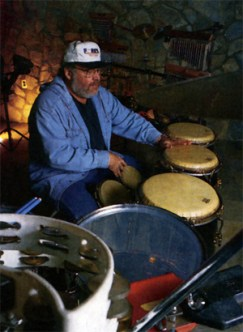 Tom Roady at the congas