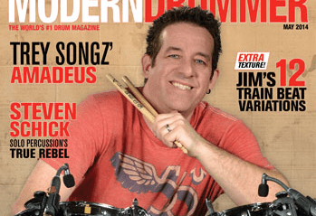 May 2014 Issue of Modern Drummer Featuring Jim Riley