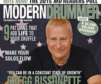 December 2014 Issue of Modern Drummer featuring Gregg Bissonette