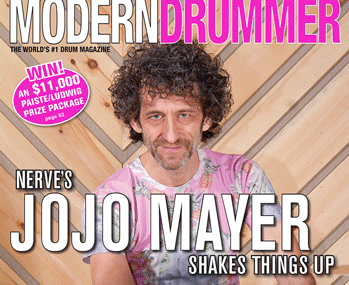 May 2015 Issue of Modern Drummer featuring Jojo Mayer