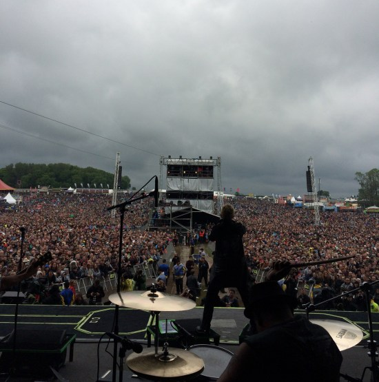 Billy Idol's Erik Eldenius at the Download Festival