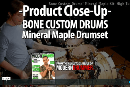 Bone Custom Mineral Maple Drumset