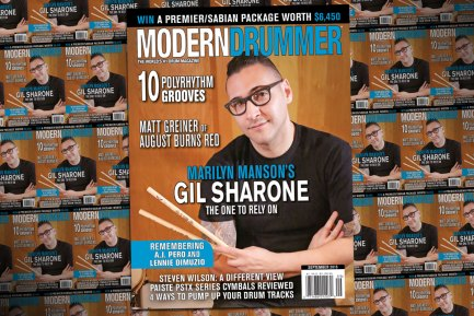 September 2015 Issue of Modern Drummer featuring Gil Sharone