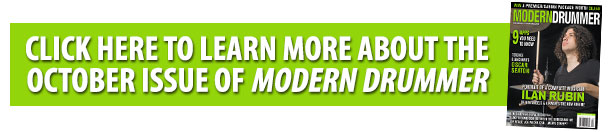 Learn more about the October Issue of Modern Drummer magazine