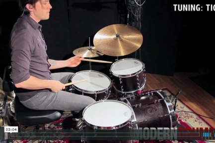 Video Demo! Product Close-Up: Angel Black Wenge Segment-Shell Drumset