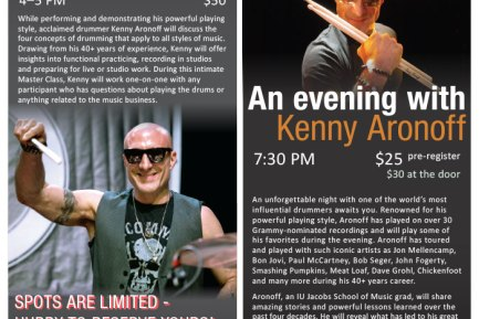 Kenny Aronoff Performance and Master Class in Indianapolis