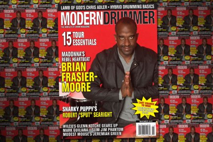 November 2015 Issue of Modern Drummer featuring Brian Frasier-Moore
